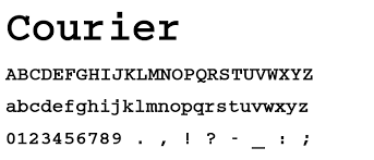 courier-fonts